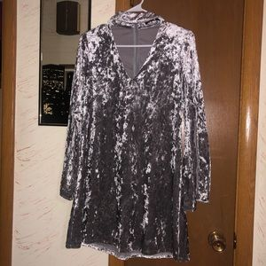 Velvet long sleeve dress size small